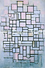 Composition Number 6-Mondrian - - CANVAS OR PRINT WALL ART