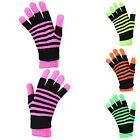 NEON STRIPE THERMAL 3in1 FULL GLOVE FINGERLESS SET 4col