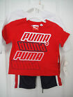 PUMA NWT Infant Boys 3PC Set Top Shirt Pants Now & Later Long Short 12 18 24