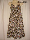 NEW Size 8 or 10 Monsoon Beige Brown Strappy Sun Cotton Dress Ladies Knee Length