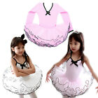 Pink Girls Princess Party Leotard Ballet Tutu Dancing Dress 3-8Y Kids Dancewear