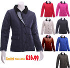 New Ladies Quilted Jacket Coat Padded UK Size  8 10 12 14 S M L XL