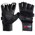 Real Leather Cycling Gloves Weight Training Gym Bodybuilding BMX Mitts S,M,L,XL