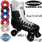 SUPREME Turbo 33  Quad Roller Skates with Kryptonics Krypto Cruise 62mm Wheels