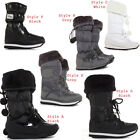 Womens Winter Wellies Wellington Ski Fur Rain Ladies Snow Boots Size 3 4 5 6 7 8