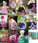 Girl Baby Ruffle Top Dress+Pants+Headband Set 0-3Y New Bloomers Nappy Cover