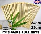 17/15 pairs Bamboo Single pointed knitting needles & Circular Mixed sizes UK US