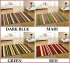 NEW LARGE-MEDIUM THICK PILE RED GREEN MARI & D BLUE COLOUR 100% WOOL RUGS