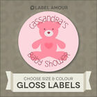 40 Personalised Baby Shower Sticker Seals Labels | Boy or Girl