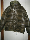 NWT Mens Solid Ralph Lauren Down & Feather Puffer Full Zip Detachable Hood Coat