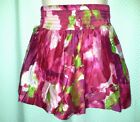 Girls Mini Boden Red Pink Skirt 2 3 4 Years NEW Floral Cotton Elasticated Waist