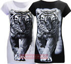 R24 NEW WOMENS ANIMAL TIGER PRINT LADIES VEST  TOP T SHIRT IN 08-14