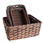 Unusual Oblong Rattan Wicker Storage Baskets Display - Choice of 4 sizes