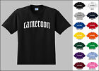 Country of Cameroon Old English Font Vintage Style Letters T-shirt