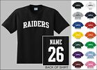 Raiders Custom Name & Number Personalized Football Youth Jersey T-shirt