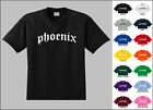 City of Phoenix Old English Font Vintage Style Letters T-shirt