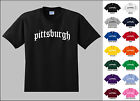 City of Pittsburgh Old English Font Vintage Style Letters T-shirt