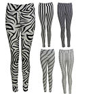 Women Ladies High Waist Stripe Pin Tribal Print Legging Long Jegging Ponte