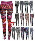 Women Ladies Monochrome Aztec Tribal Print Full Length Legging Trouser