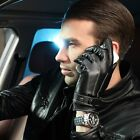 WARMEN Men's Winter Nappa Genuine Leather Gloves Cashmere Lining Available