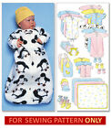 SEWING PATTERN! MAKES BABY LAYETTE! BUNTING~BOOTIES~HAT~DIAPER COVER! 7 - 24 LBS