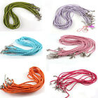 90pcs Bulk Braided Cords Lobster Clasps Necklaces Fit Charms Pendant 46cm