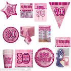 Pink 30th Birthday Party Items Decorations One Listing PS