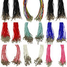 """25 x Cotton Necklace Cords 18"""" and 20"""" - Lobster Clasp"""