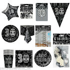 Black Silver 30th Birthday Party Items Decorations One Listing PS