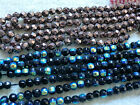 50 - 200 x 6mm Faceted Gemstone Hematite Beads In Multi Blue & Brown