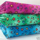 per half metre/ FQ blue pink & green magic stars fabric width 100% cotton