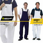 Click Cotton Drill Bib And Brace Painters Overalls Coveralls Dungarees Mens &