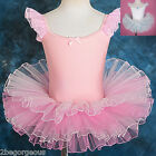 Ballet Tutu Dance Costume Fancy Party ballerina Dress Pink Girl Age 3-7y 042