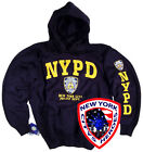 NYPD Shirt Hoodie Sweatshirt Officially Licensed by New York City Navy Blue