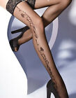 "Exclusive Patterned  Hold-ups by Gatta ""LAVINIA"" -20 Denier - 7cm Deep Lace Top"