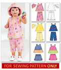 SEWING PATTERN! MAKES TOP~SHORTS~PANTS~HAT! BABY CLOTHES SIZES 8 TO 24 POUNDS!