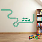 Wall Stickers Train Steam Train Plus Tracks Art Vinyl Decorations Removable A208