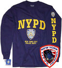 NYPD T-SHIRT NAVY BLUE LONG SLEEVE OFFICIALLY LICENSED BY NEW YORK CITY image