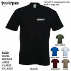'SECURITY' . Larger text on back. Men's T-shirt. S-XXL.