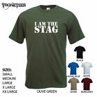 'I am the Stag' - Army Style - Funny men's Wedding/ Marriage T-shirt.