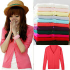 Women Lady Fashion  Long-Sleeved Cardigan Knitted Sweater Tops 12 Colors F348