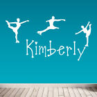 Personalised Ice Skating Wall Sticker, Decal, Removable Wall Sticker