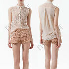 New Fashion Girl Lace Tops Floral T-Shirt Blouse Tunic Sleeveless Casual Career