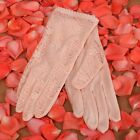 Women silk&lace wedding anti-UV driving gloves SK005D