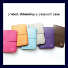Faux Leather Protect Skimming Passport Holder Case Cover
