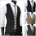 THELEES (VE34) Mens premium Business Casual Layered style Slim Vest