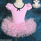 Ballet Tutu Dance Costume Fancy Party ballerina Dress Pink Girl Age 3-7y 043