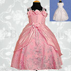 Wedding Flower Girl Bridesmaid Christening Party Occasion Dresses Age 12m-5y 049