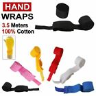 Hand Wraps Bandages Fist Boxing Inner Gloves Mitts MMA 3.5m 100% Cotton Pair