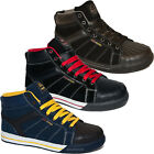 MENS GROUNDWORK SAFETY ANKLE HIGH BOOTS LACE UP STEEL TOE CAP WORK TRAINERS